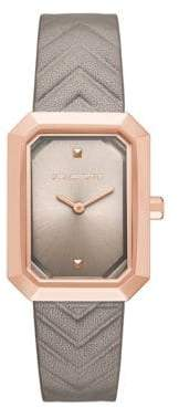 Karl Lagerfeld Paris Klassic Linda Leather Watch