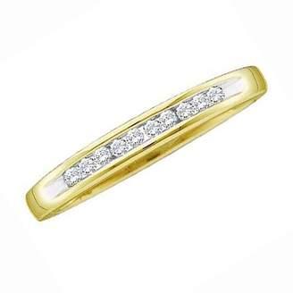 DazzlingRock Collection 0.10 Carat (ctw) 10K Yellow Gold Round White Diamond Ladies Fashion Wedding Band 1/10 CT (Size 5)