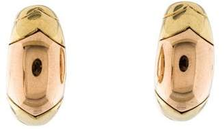 Bvlgari Two-Tone Clip-On Earrings