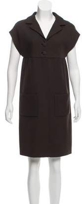 Balenciaga Wool-Blend Sheath Dress