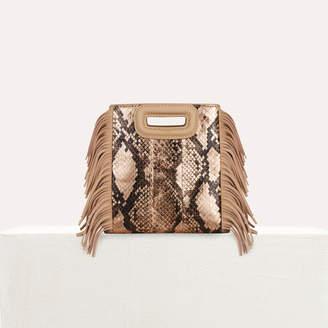 Maje Mini M bag in python leather