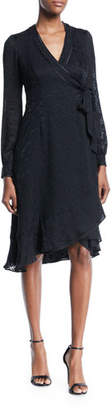 Nanette Lepore Romeo Long-Sleeve Wrap Dress