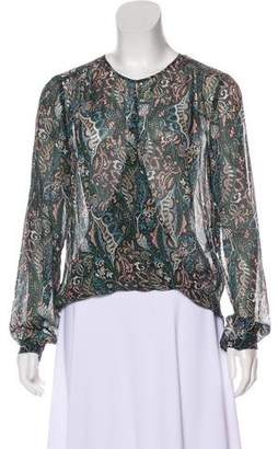 Veronica Beard Printed Silk Top