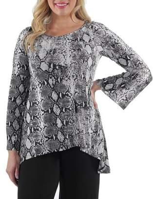 24/7 Comfort Apparel Women's Animal Print Tunic Top