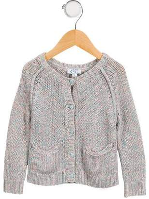 C de C Girls' Long Sleeve Button-Up Cardigan