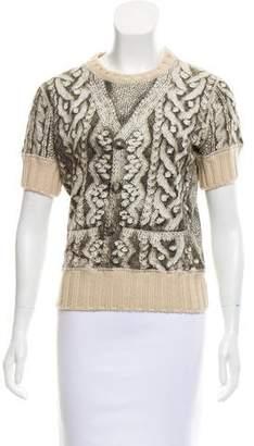 Jean Paul Gaultier Wool-Trimmed Trompe L'oeil Top