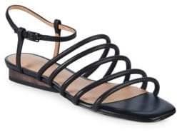 Halston Leandra Leather Sandals