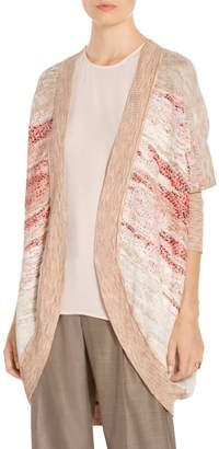 St. John Ombre Textured Jacquard Knit Cardigan