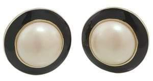 Carolee Optical Opposites Button Stud Earrings