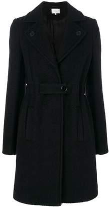 Carven notched lapels belted coat