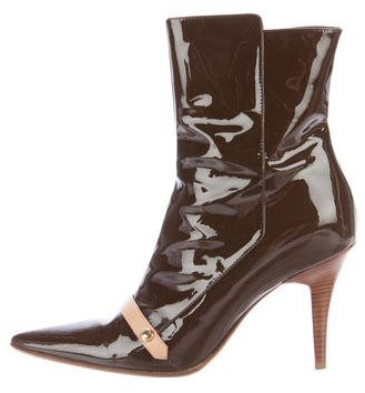 Louis Vuitton Gina Patent Leather Ankle Boots