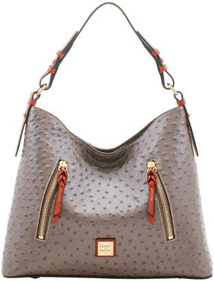 Dooney & Bourke Ostrich Cooper Hobo