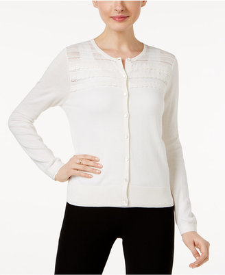 August Silk Scalloped Illusion Cardigan $36.98 thestylecure.com