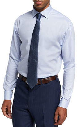 Armani Collezioni Textured Cotton Dress Shirt, Blue