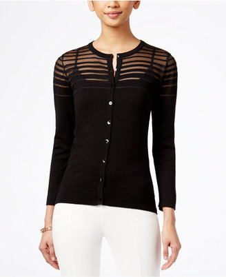 August Silk Illusion-Striped Cardigan $36.98 thestylecure.com