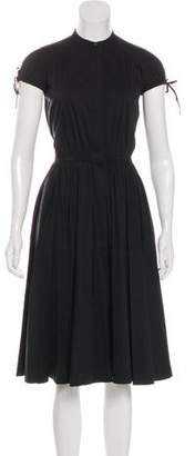 Robert Rodriguez Cap Sleeve Midi Dress