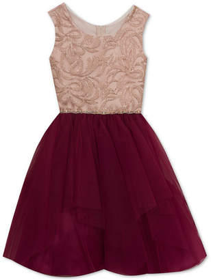 Rare Editions Big Girls Embroidered Sequin Party Dress