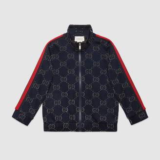 Gucci Children's GG lame zip-up sweatshirt