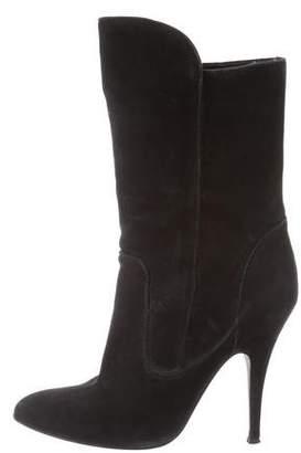 Giuseppe Zanotti x Balmain Suede Mid-Calf Boots