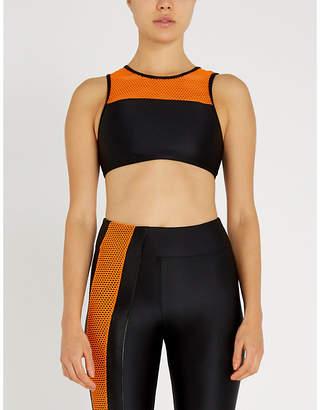 5349bf3c7c2ba Koral Rotation Versatility mesh-panelled stretch sports bra