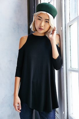 Kimchi Blue Tyra Cold Shoulder Tunic Top $44 thestylecure.com