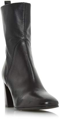 Dune BLACK LADIES PATTISON - Stretch Leather Flared Heel Ankle Book