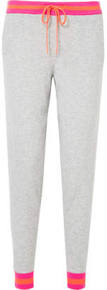 Chinti and Parker Striped Cashmere Track Pants - Gray
