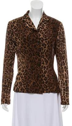 d16932baf5 Dolce & Gabbana Animal Print Silk Blouse