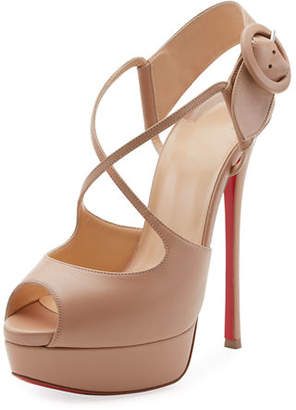 Christian Louboutin Hollandrive Platform Red Sole Pump
