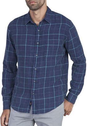 Faherty Men's Ventura Grid-Print Sport Shirt