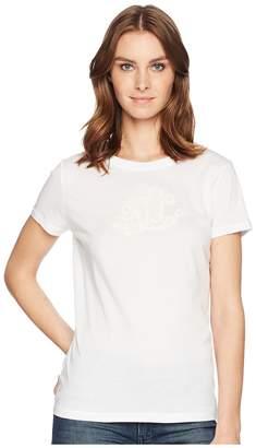 Lauren Ralph Lauren Embroidered Monogram T-Shirt Women's T Shirt