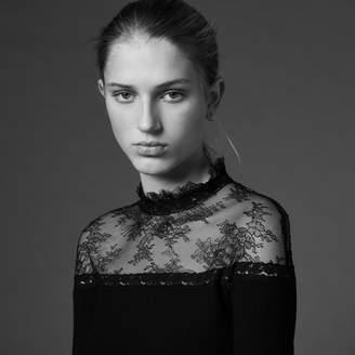 Sandro T-shirt with lace insert