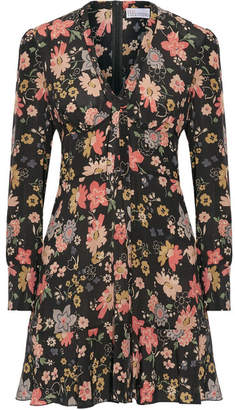 REDValentino - Floral-print Silk-georgette Mini Dress - Pink $760 thestylecure.com
