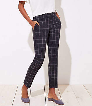 LOFT Slim Pencil Pants in Windowpane in Julie Fit