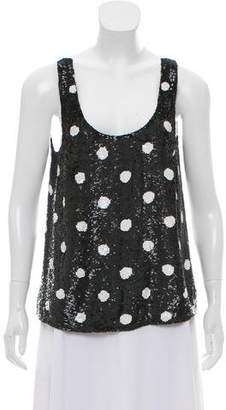 Ashish Sequined Open Back Top