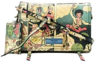 Prada Etiquette cartoon print shoulder bag