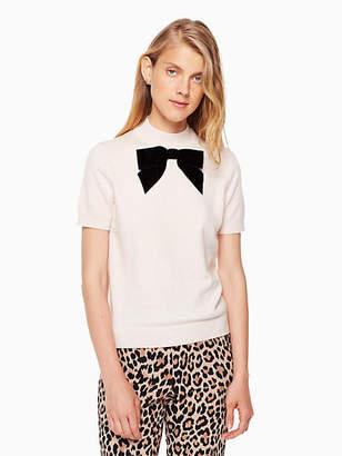 Kate Spade Velvet bow sweater