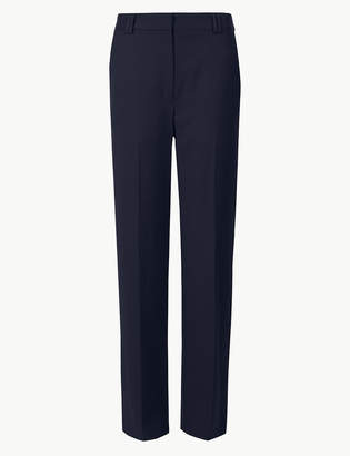 Marks and Spencer Side Stripe Relaxed Straight Leg Trousers