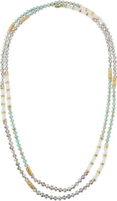 Emily and Ashley Greenbeads By Extra-Long Strand Necklace, Mint