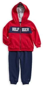 Tommy Hilfiger Baby Boy's Two-Piece Logo Fleece Jacket Pants Set