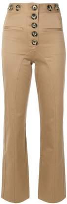 Self-Portrait button detail trousers