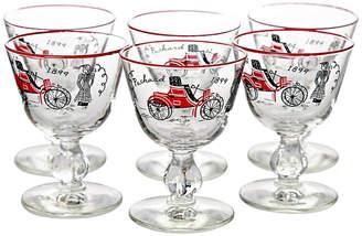 One Kings Lane Vintage Midcentury Aperitif glasses - Set of 6