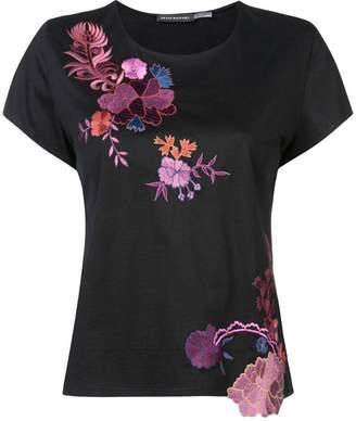 Josie Natori embroidered T-shirt