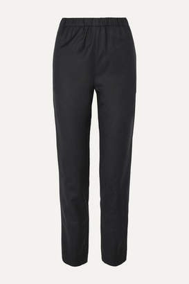 Atlantique Ascoli Wool Tapered Pants - Gray