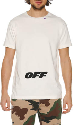 Off-White Off White Men's Wing Off Graphic Slim T-Shirt