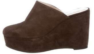 Robert Clergerie Suede Wedge Mules
