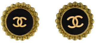 Chanel CC Button Earrings $295 thestylecure.com