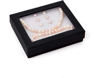 N. Tara Pearls Multicolor Freshwater Pearl Necklace, Bracelet & Earrings Set