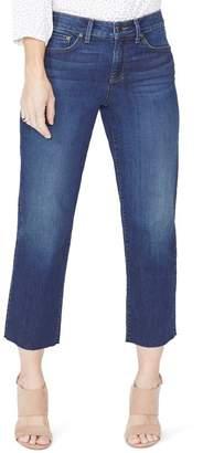 NYDJ Jenna Straight Leg Raw Hem Ankle Jeans