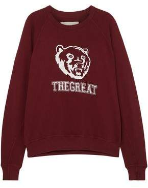 The Great The College Printed French Cotton-terry Sweatshirt